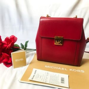 Michael Kors Backpack Leather in Red